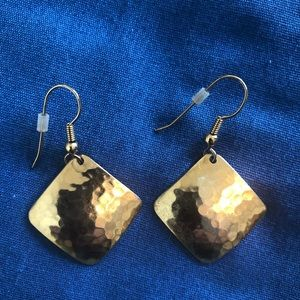 Gold color dangly earrings